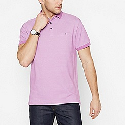 The Collection - Pink Textured Cotton Polo Shirt