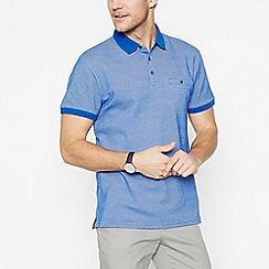 The Collection - Blue Textured Cotton Polo Shirt