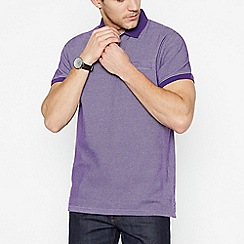 The Collection - Purple Textured Cotton Polo Shirt