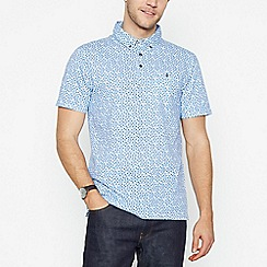 The Collection - Blue Floral Cotton Polo Shirt