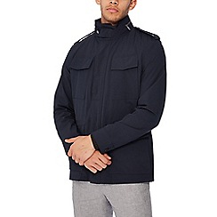 The Collection - Big and tall navy shower resistant explorer jacket