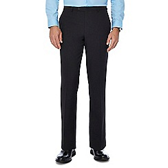 The Collection - Black flat front regular trousers