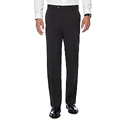 The Collection - Big and tall grey flat front regular trousers