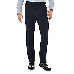 The Collection - Navy textured tailored trousers