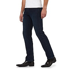 The Collection - Big and Tall blue straight fit stretch jeans
