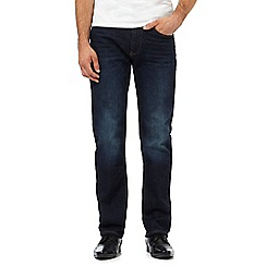 The Collection - Big and tall dark blue light wash straight fit jeans