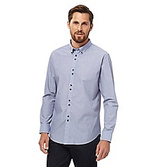 The Collection - Big and tall lilac textured spotted tailored fit shirt