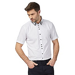 The Collection - Big and tall white textured shirt