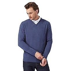 The Collection - Blue V neck jumper