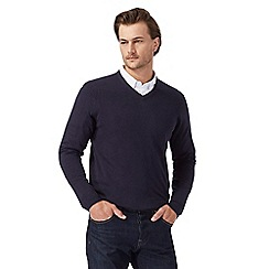 The Collection - Navy V neck jumper