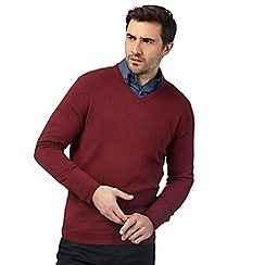 The Collection - Maroon V neck jumper