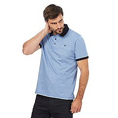 The Collection - Big and tall blue striped polo shirt