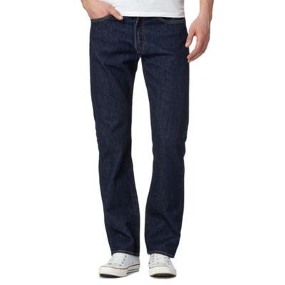 Levi\u0027s - Big and tall 501� one wash dark blue straight leg jeans