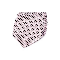 Osborne - Pink polka dotted silk tie