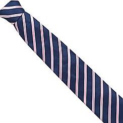 Osborne - Pink ribbon striped silk tie