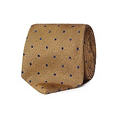 Hammond & Co. by Patrick Grant - Gold polka dot silk tie