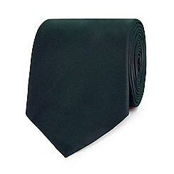 The Collection - Dark green slim tie
