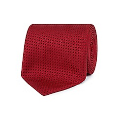 The Collection - Red plain textured tie