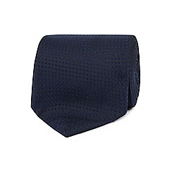 The Collection - Navy plain textured tie