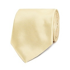 The Collection - Gold ribbed silk tie