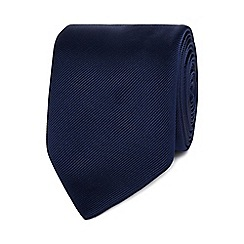 Black Tie - Navy plain tie