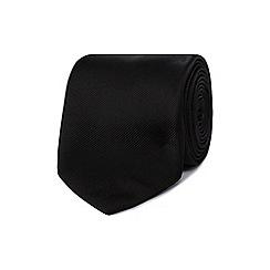 Black Tie - Black plain tie
