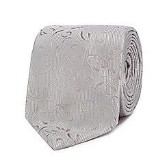Black Tie - Silver jacquard tie