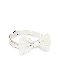 Black Tie - Ivory jacquard bow tie