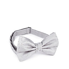 Black Tie - Silver jacquard bow tie