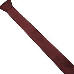 Red Herring - Red textured slim tie