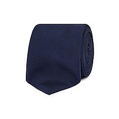 Red Herring - Navy textured slim tie