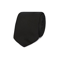 Red Herring - Black textured slim tie