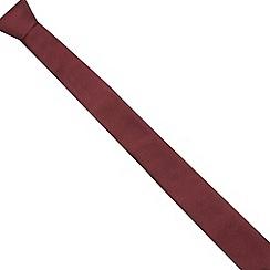 Red Herring - Red plain skinny tie