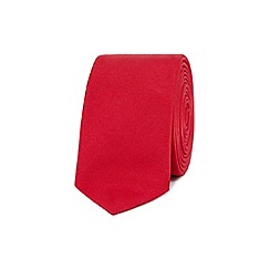 Red Herring - Red plain skinny tie