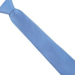 Jeff Banks - Blue wide ribbed silk tie
