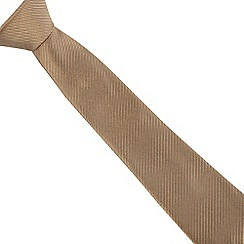 Jeff Banks - Gold silk ribbed tie