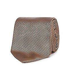 Hammond & Co. by Patrick Grant - Gold textured stripe silk tie