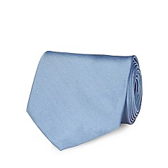 The Collection - Light blue plain tie