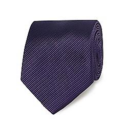 Jeff Banks - Purple silk striped tie