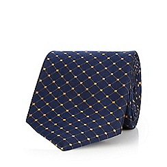 Hammond & Co. by Patrick Grant - Navy tile patterned pure silk tie