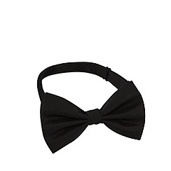 Black Tie - Black silk ready tied bow tie