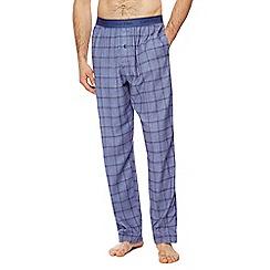 Calvin Klein - Blue checked pyjama bottoms