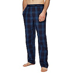 Calvin Klein - Navy check print pyjama bottoms