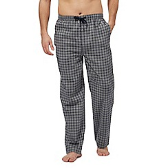 Hammond & Co. by Patrick Grant - Big and tall grey checked print pyjama bottoms