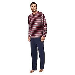Maine New England - Big and tall red striped print pyjama set