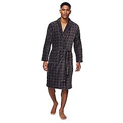 RJR.John Rocha - Grey checked fleece dressing gown