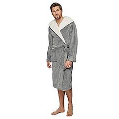 RJR.John Rocha - Grey sherpa hooded dressing gown