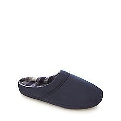 Maine New England - Navy suedette mule slippers