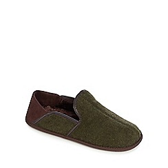 RJR.John Rocha - Green flap back carpet slippers