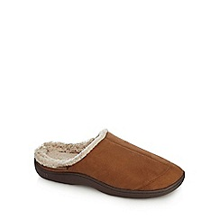 Totes - Tan suedette mule slippers